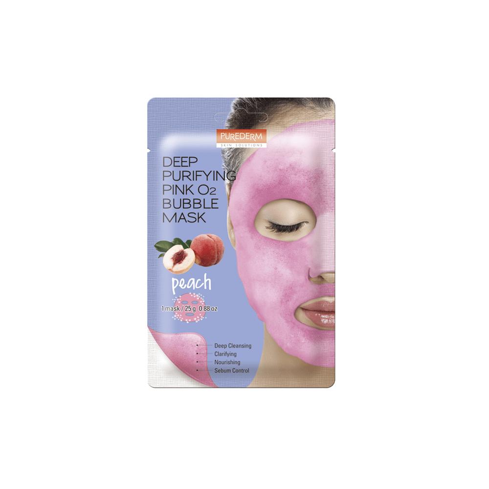 Deep Purifying Pink Peach O2 Bubble Mask