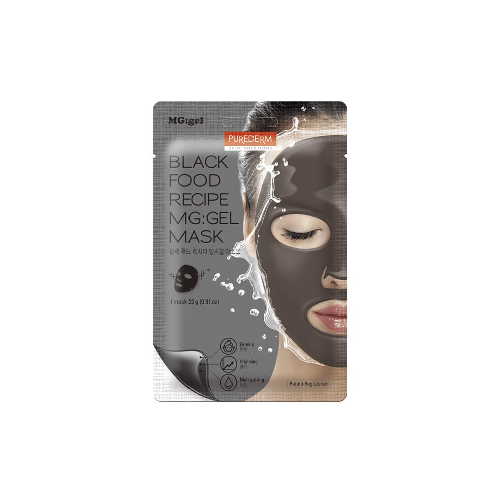 Black food recipe mg:gel mask – Mascarilla mg:gel firmeza y luminosidad