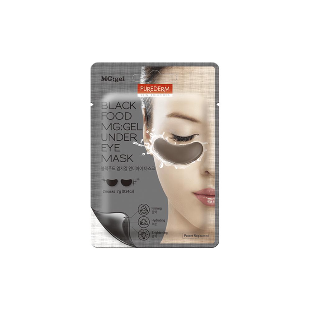 Black food mg:gel under eye mask – Parche para contorno de ojos de mg:gel