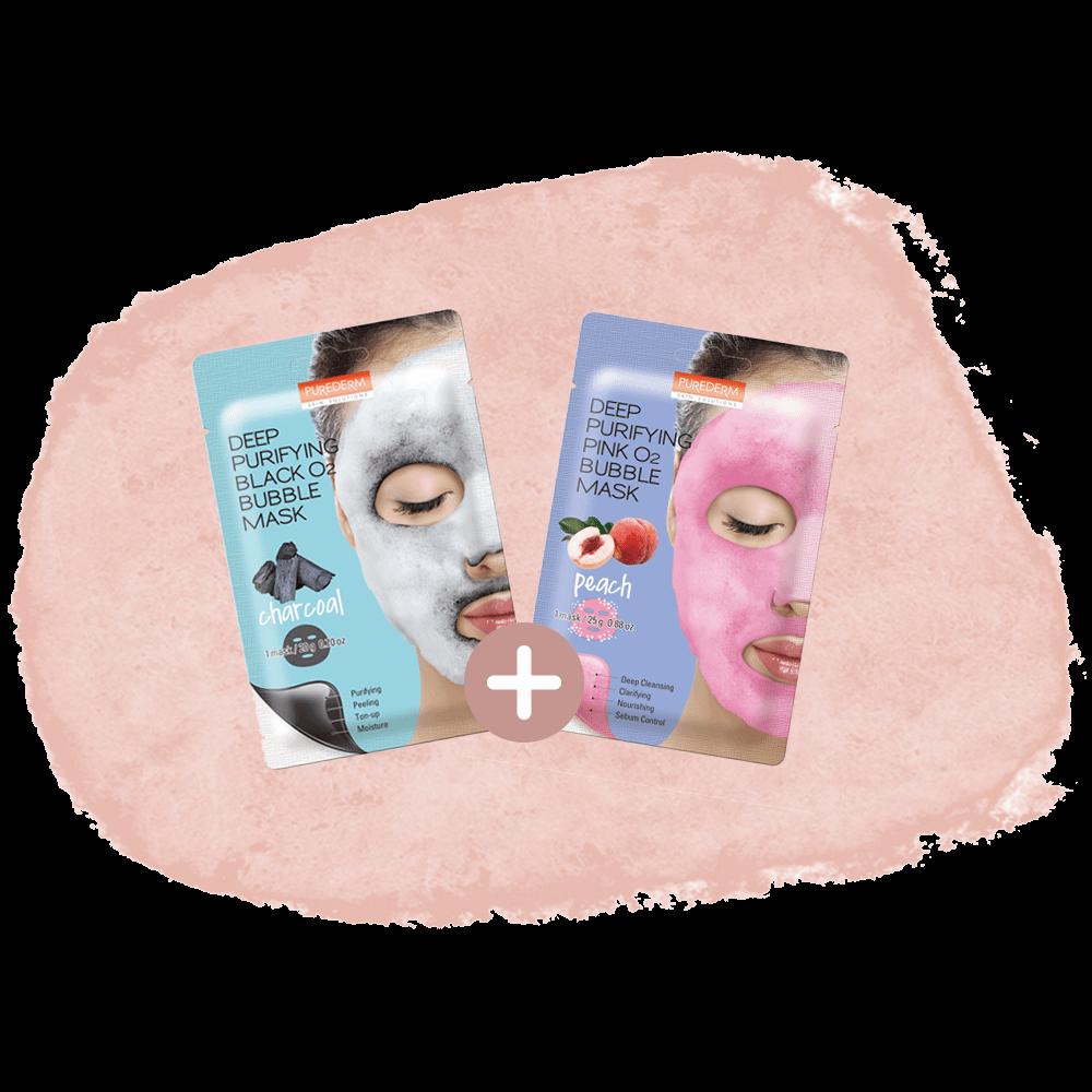 """Combo """"Bubble mask"""""""
