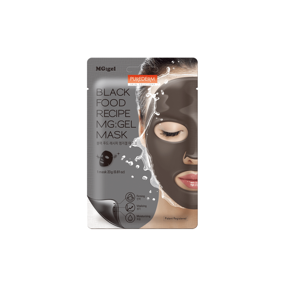 Mascarilla MG:GEL firmeza y luminosidad – Black food recipe MG:GEL mask