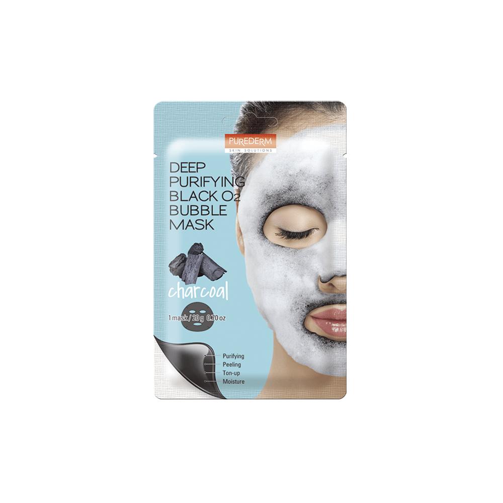 Deep Purifying Black O2 Bubble Mask Charcoal