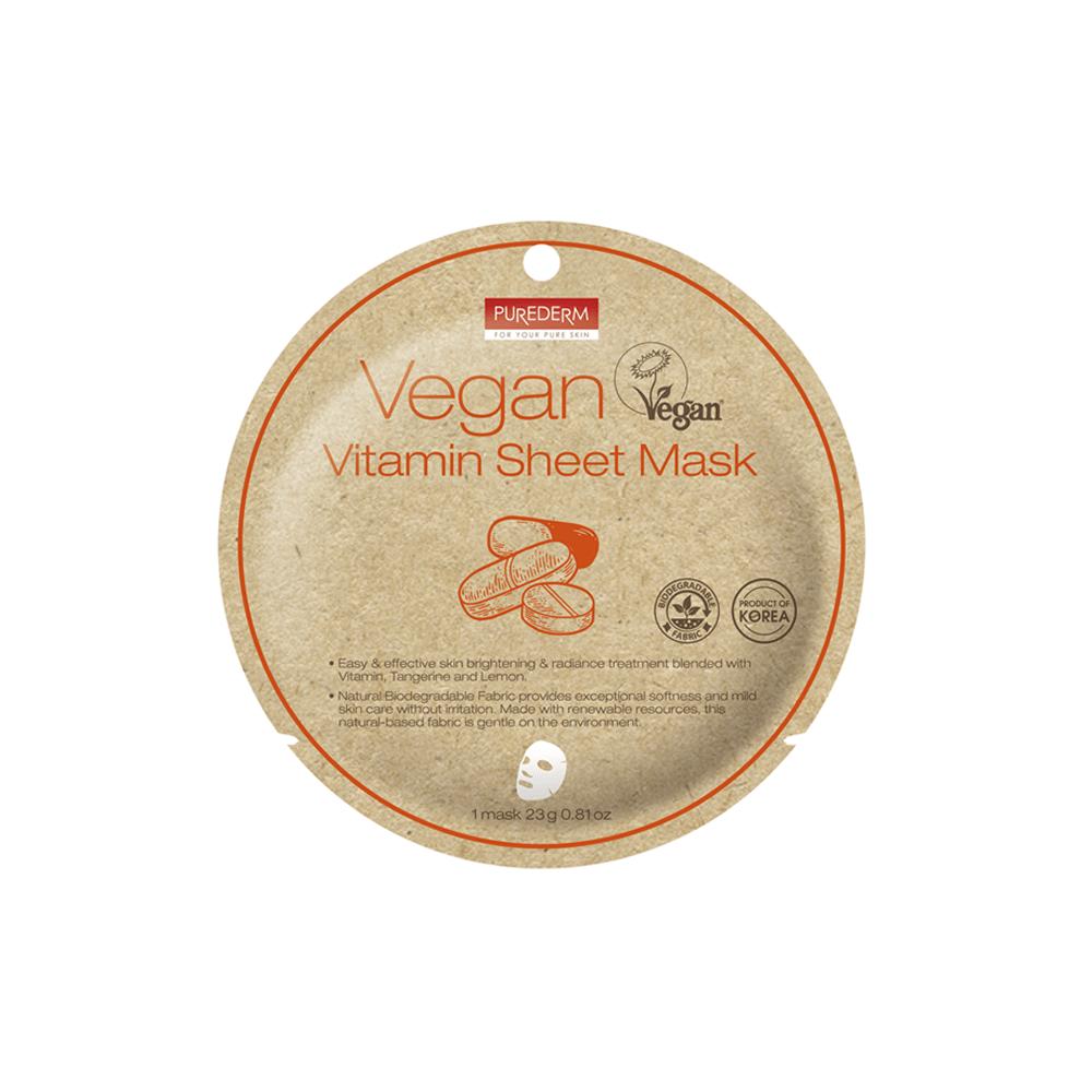 Mascarilla Vegana Biodegradable con Vitamina C – Vegan Vitamin Sheet Mask