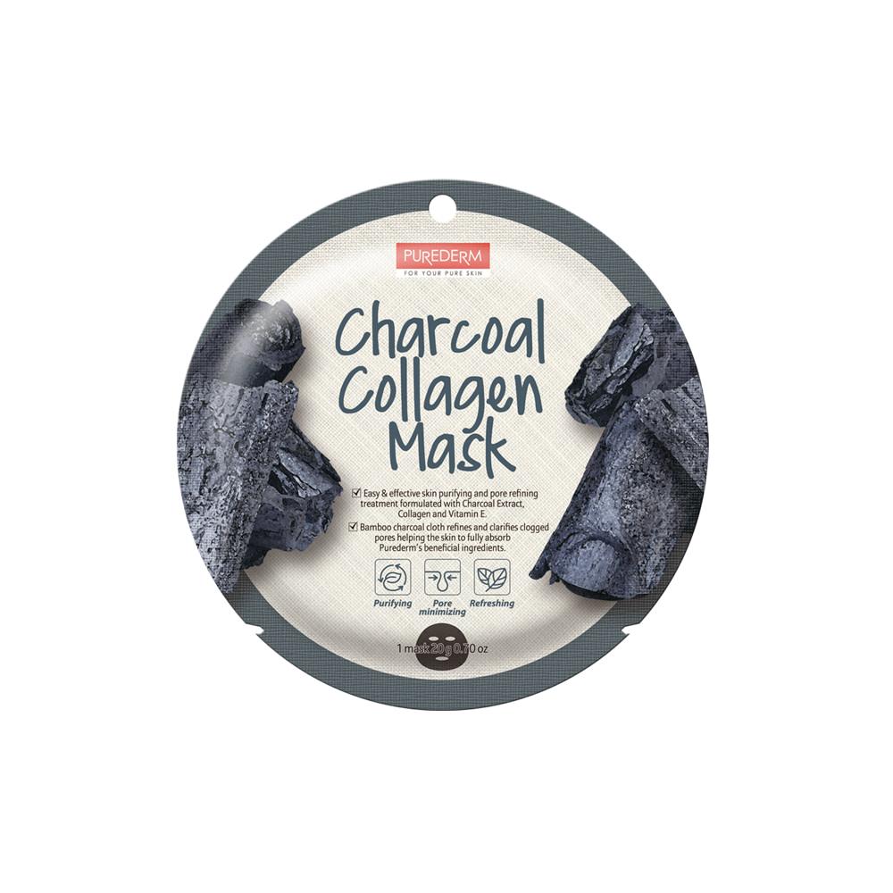 Mascarilla colágeno de carbón purificante – Charcoal collagen mask