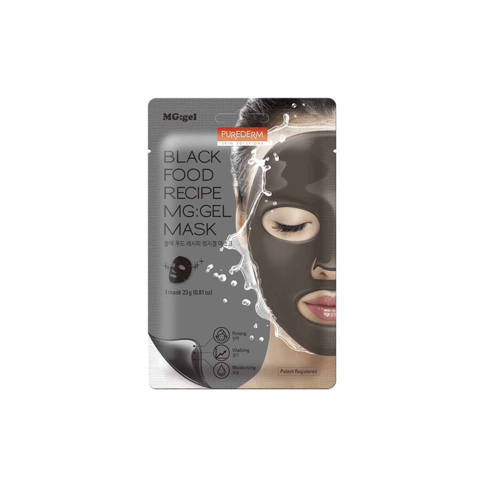 Mascarilla MG-GEL Firmeza y Luminosidad – Black Food Recipe MG:GEL Mask