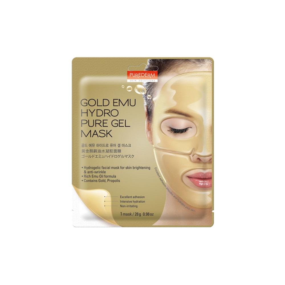 Mascarilla hidrogel anti-edad e iluminadora – Gold hydrogel mask