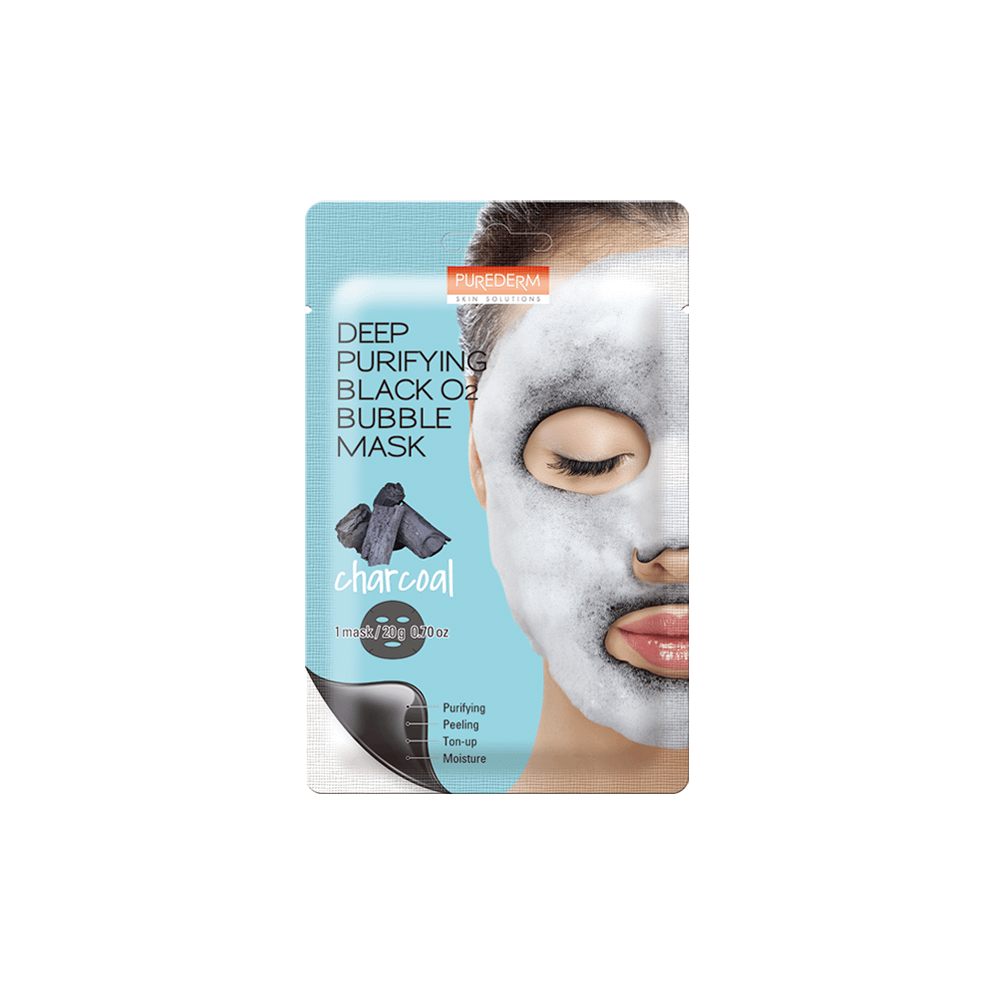 Mascarilla limpieza profunda carbón – Deep purifying black O2 bubble mask charcoal