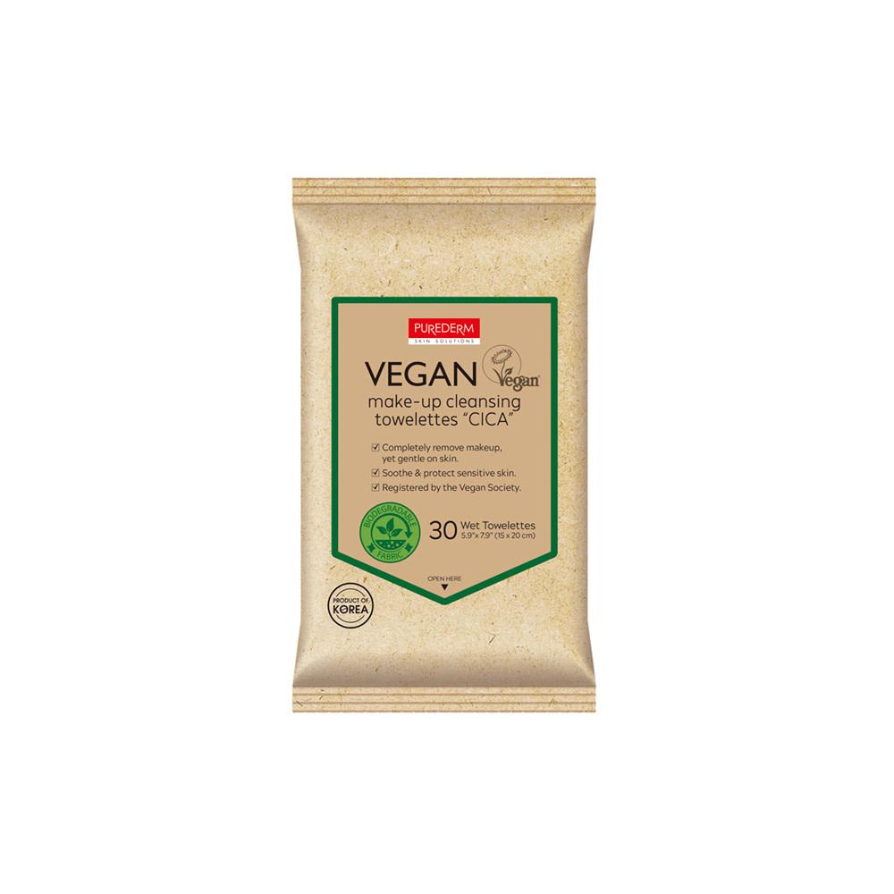 "Toallitas desmaquillantes veganas biodegradables – Vegan make-up cleansing towelettes ""cica"""