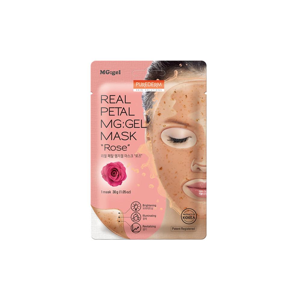 Mascarilla MG:GEL revitalizante e Iluminadora – Rose real petal MG:GEL mask