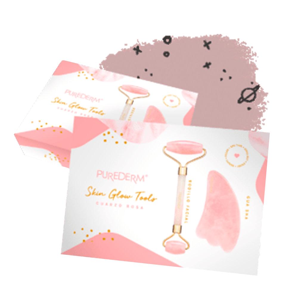 Rodillo facial & gua sha de cuarzo rosa – Skin glow tools