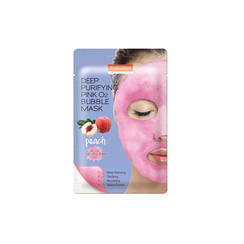 Mascarilla limpieza profunda durazno – Deep purifying pink peach O2 bubble mask